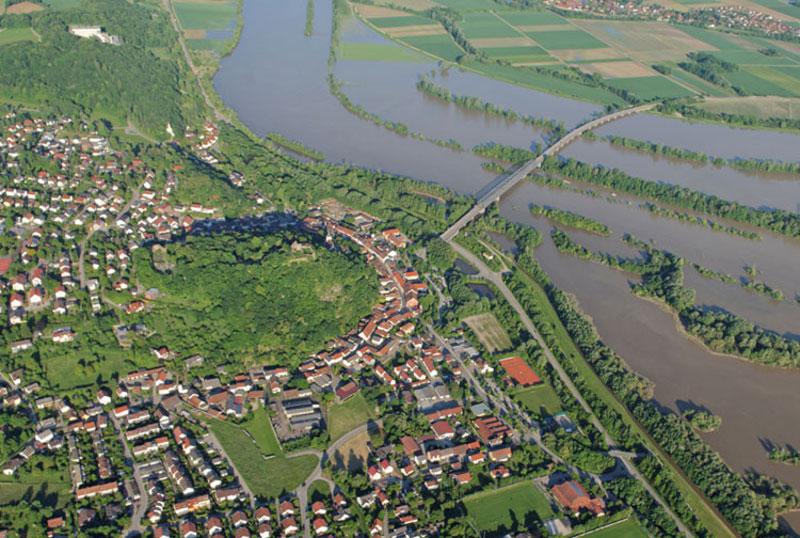 Bild- und Videoflüge Hochwasser Donaustauf