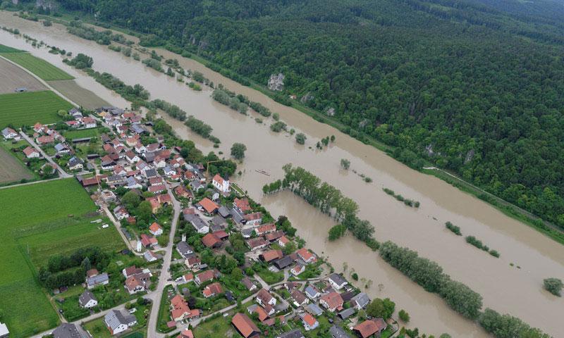Bild- und Videoflüge Hochwasser Sinzing Gundelshausen