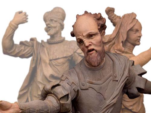 Reproduktion historischer Figuren