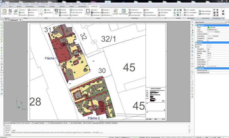 ArchäoCAD Planerstellung einer innerstädtischen Grabung