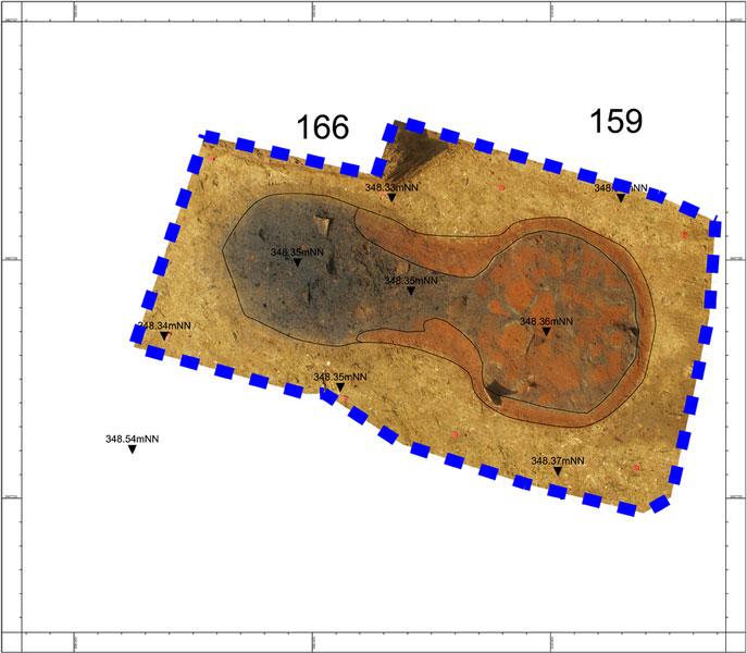 ArchäoCAD Rectify entzerrter Grundriss eines römischen Ofens