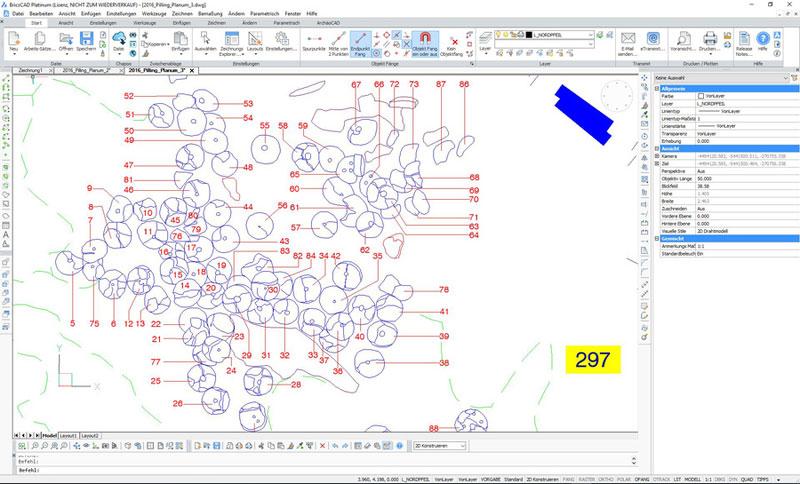 ArchäoCAD Rectify Detailansicht der CAD-Umzeichnung