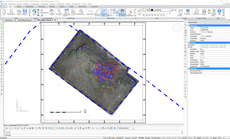 ArchäoCAD Rectify Übersicht Planumsdokumentation