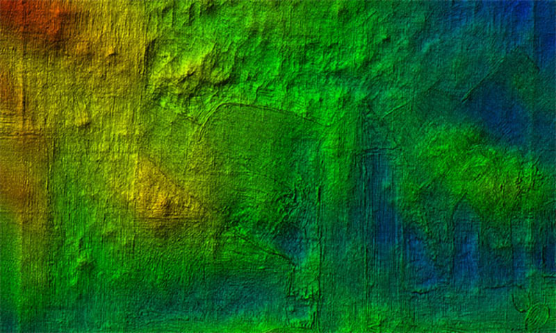 3D-Daten Gemälde überhöht dargestellt