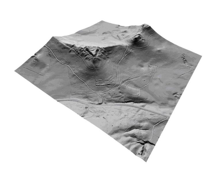 Airborne Laserscanning ALS DTM Homburg 3D-View
