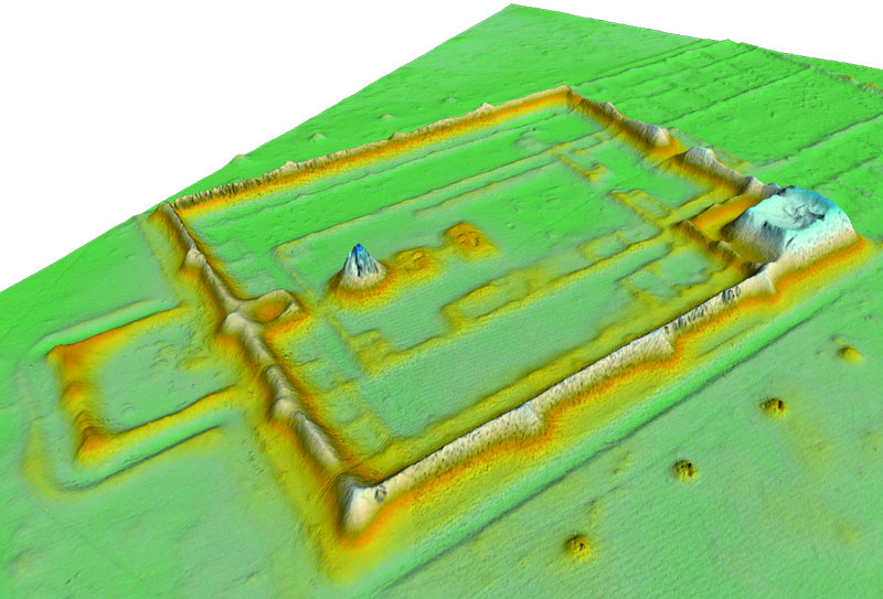 Airborne Laserscanning ALS Mauern im DTM