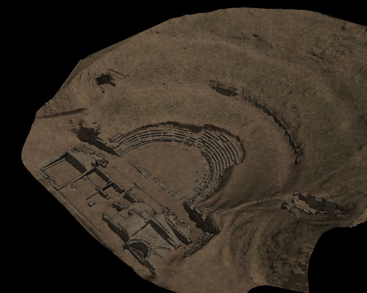 Datenverarbeitung Sikiona Amphitheater