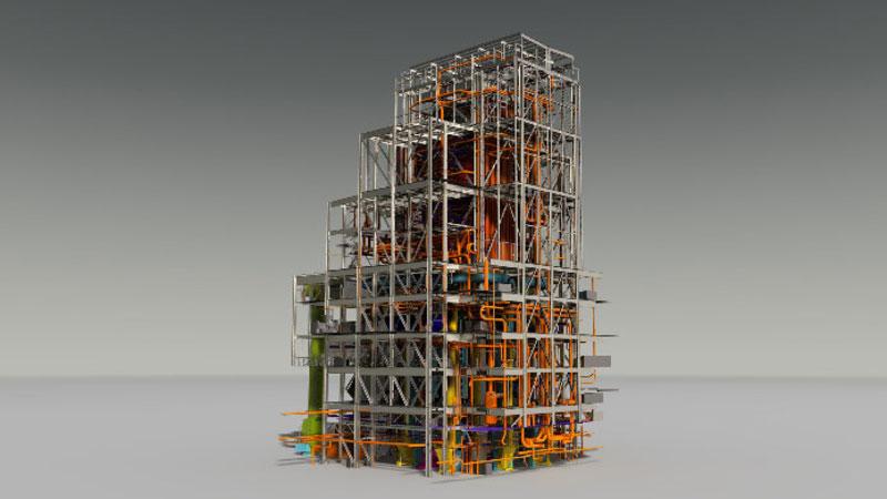 ETA Belchatow Kraftwerk Vermessung Rekonstruktion