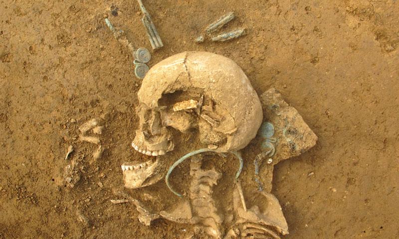 Frühbronzezeitliches Frauengrab