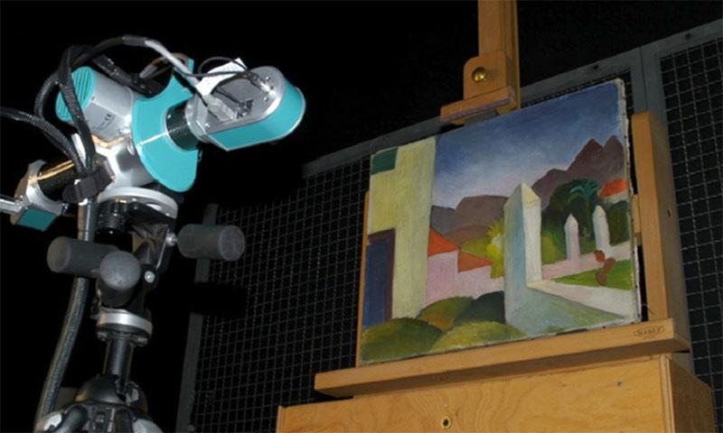 3D scanning of oil paintings