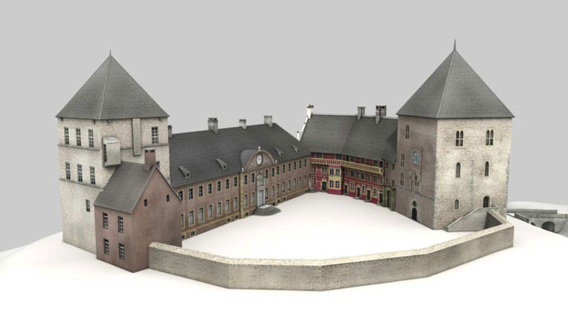 Modell Burg Rheda Rekonstruktion