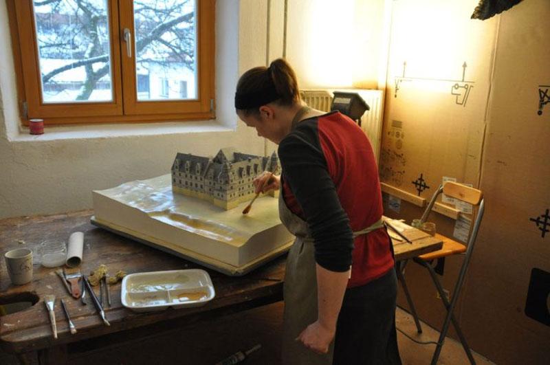 Modellbau Kolorierung Burg