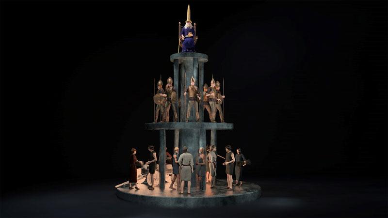 Pyramide Bullenheim 3D-Animation