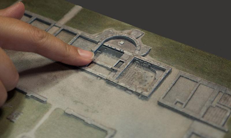 Reliefprint Blindenmodell Aalen