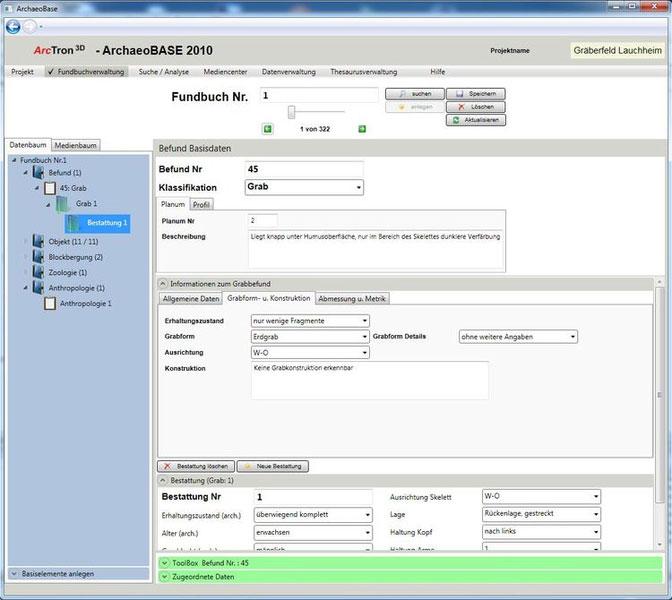 Softwareentwicklung DFG-Projekt Grabverwaltung