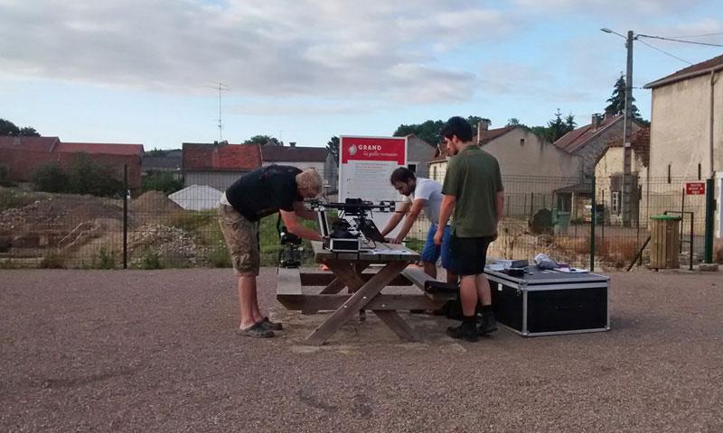 Vorbereitung der UAV-Befliegung einer Ausgrabungsstätte