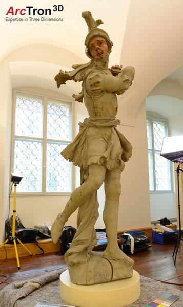 3D-Dokumentation Museumsstatue Feuchtmayer-Statue