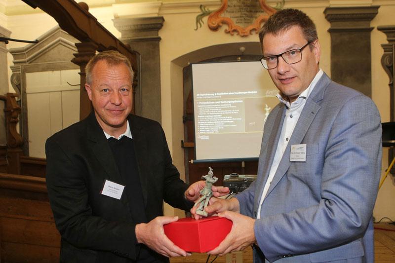 Badisches Landesmuseum M. Schaich mit Direktor Prof. Dr. E. Köhne