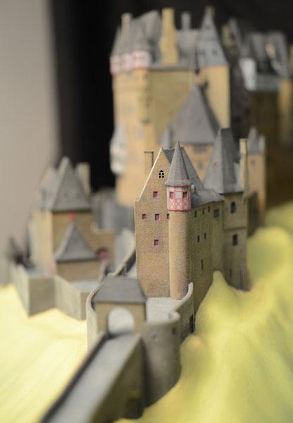 Burg Eltz Burgenmodell Detailansicht