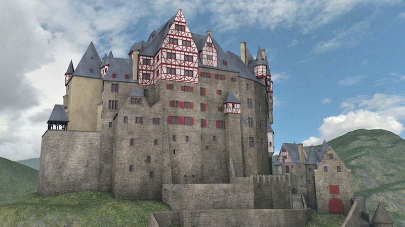Burg Eltz digitales 3D-Modell 1