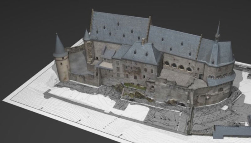 Burg Vianden 3D-Modell Multimediapraesentation