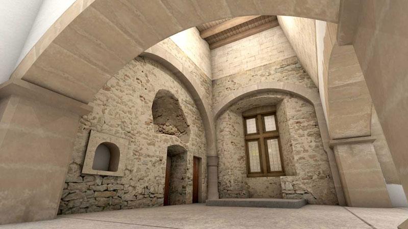 Burg Vianden Küche