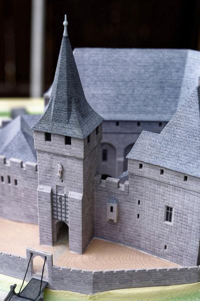 Burgenmodell Lauf Architekturmodell