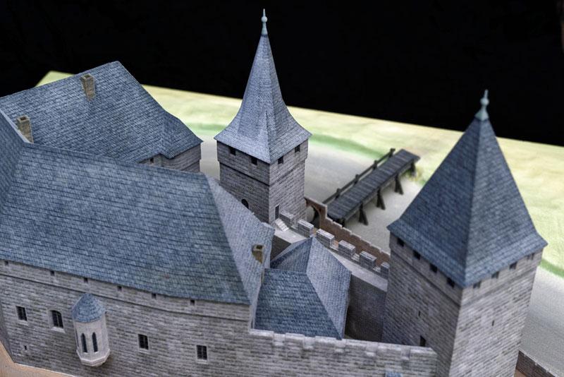Burgenmodell Lauf Detailansicht