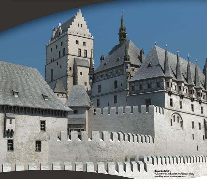 Burgenmodelle Nürnberg Burg Karlstein 1