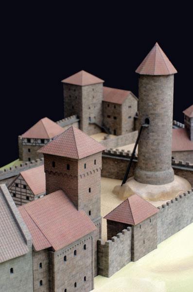 Burgmodell Nürnberg Detail 1