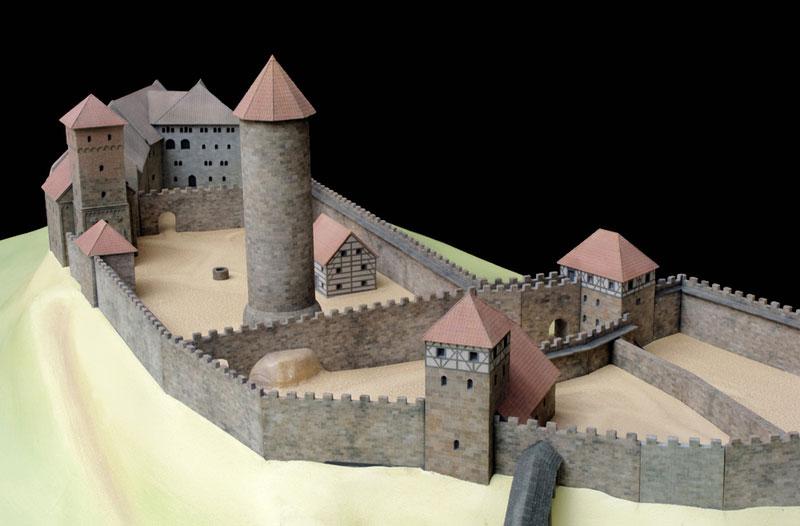 Burgmodell Nürnberg mit Gelände
