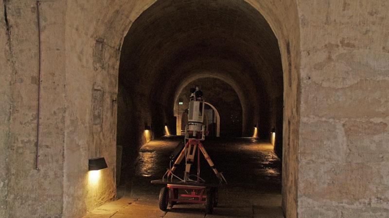Festung Königstein 3D-Laserscanning Gewölbe