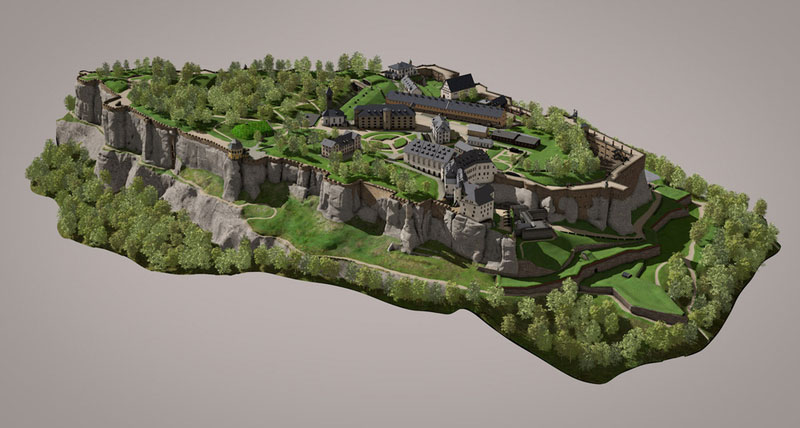 Festung Königstein 3D-Modell