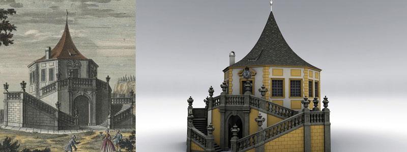 Festung Königstein digitale Gebäuderekonstruktion