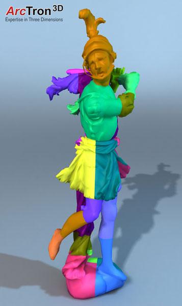 Feuchtmayer-Statue 3D-Druck Puzzle-Aufteilung