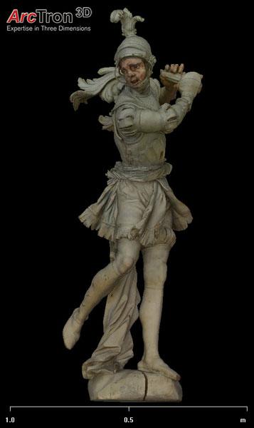 Feuchtmayer-Statue digitales 3D-Modell