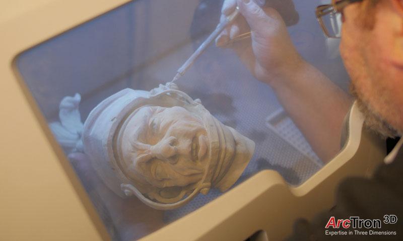 Feuchtmayer-Statue Reproduktion aus dem 3D-Drucker
