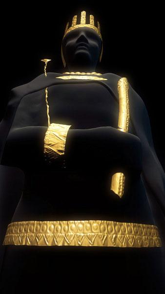 Filmszene Goldfigur