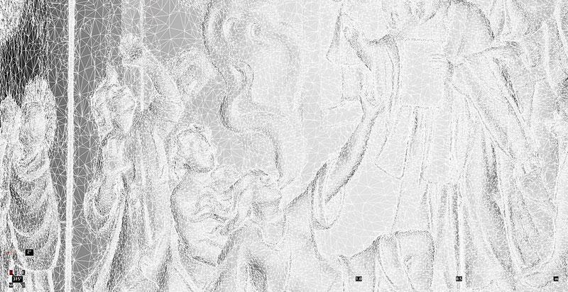 Karlskirche Detail Säule aspect 3D-Mesh