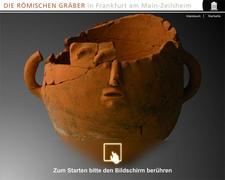 Medienstation Archaeologiemuseum Frankfurt Zeilsheim 1