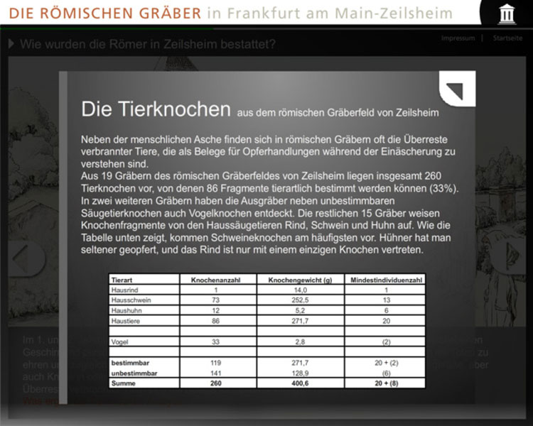 Medienstation Archaeologiemuseum Frankfurt Zeilsheim 4