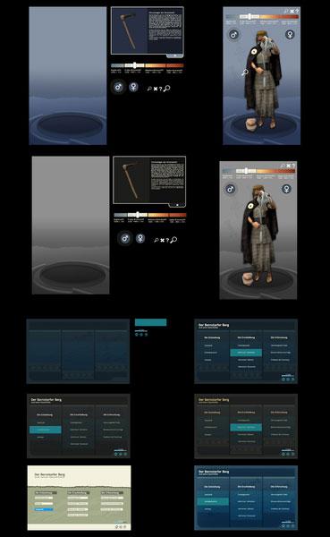 Menü- und Bildschirmdesign interaktiv