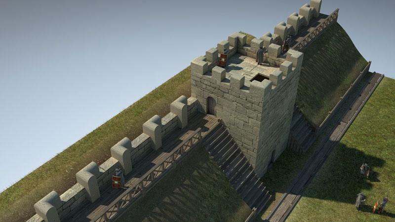 Porta Praetoria Turm