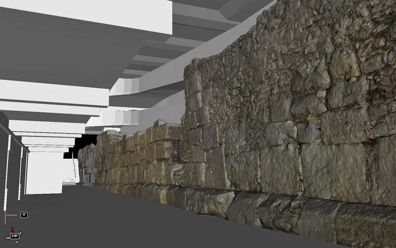 Römermauer Regensburg Legionslagermauer 3D-Model texturiert