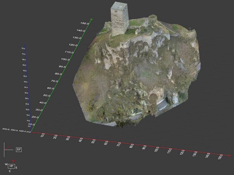 Sicherung Burg Wellheim aspect 3D