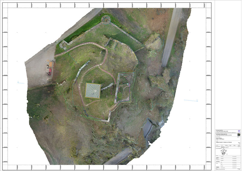 Sicherung Burg Wellheim Draufsicht