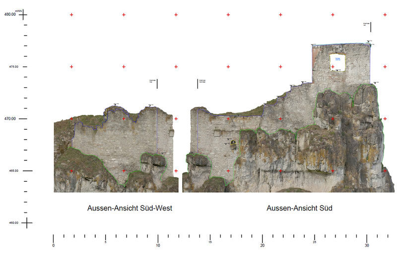 Sicherung Burg Wellheim Ringmauer Süd