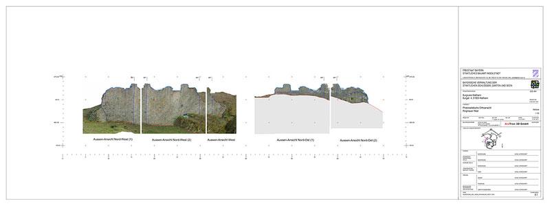 Sicherung Burg Wellheim Ringmauer West