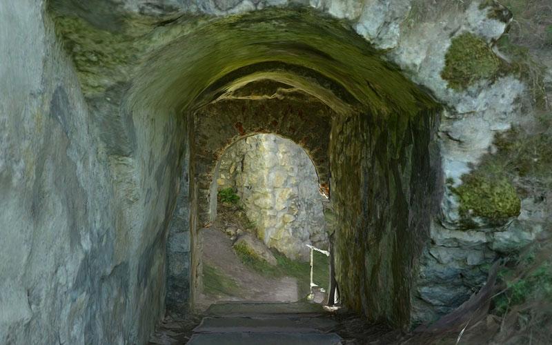 Sicherung Burg Wellheim Tor