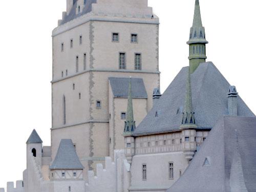 Titel Burgenmodelle Karl IV.